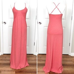 Saturday Sunday | Coral Smocked Maxi Dress S G07